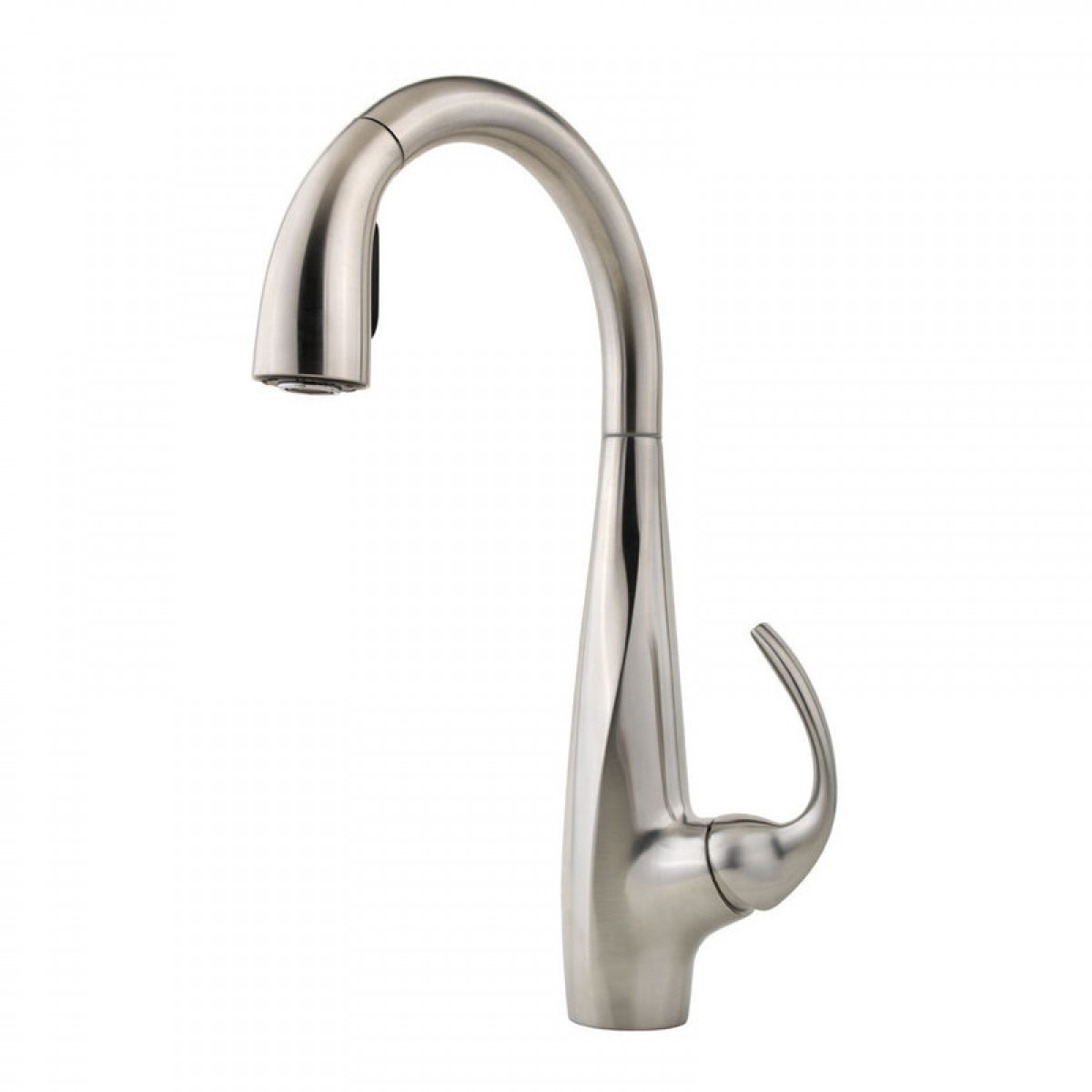 Linden SingleHandle PullOut Sprayer Kitchen Faucet With