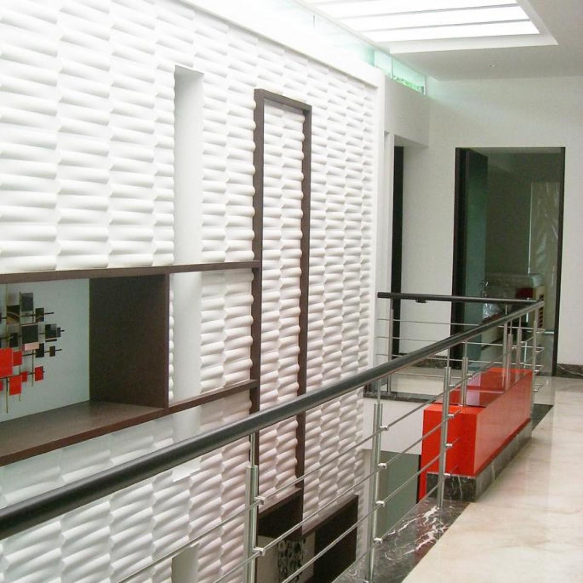 Box Wall Panels : Seesaw pattern design d glue on wall panel flats