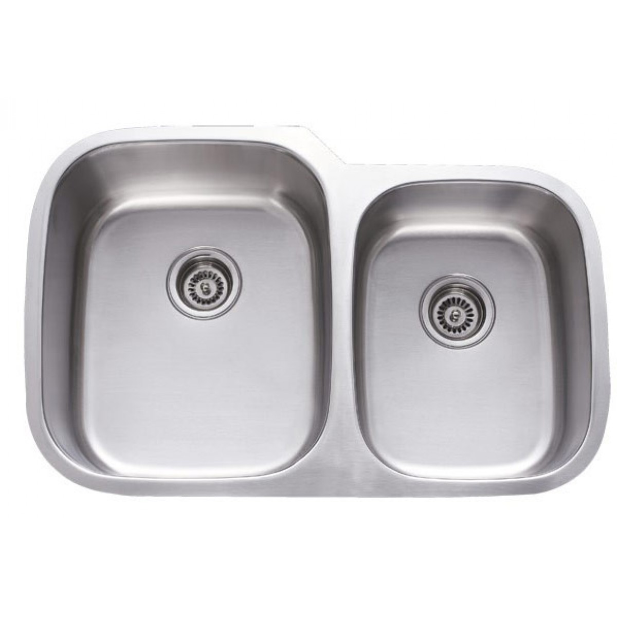 31 Inch Stainless Steel Undermount 60 40 Double Bowl Kitchen Sink 18 Gauge
