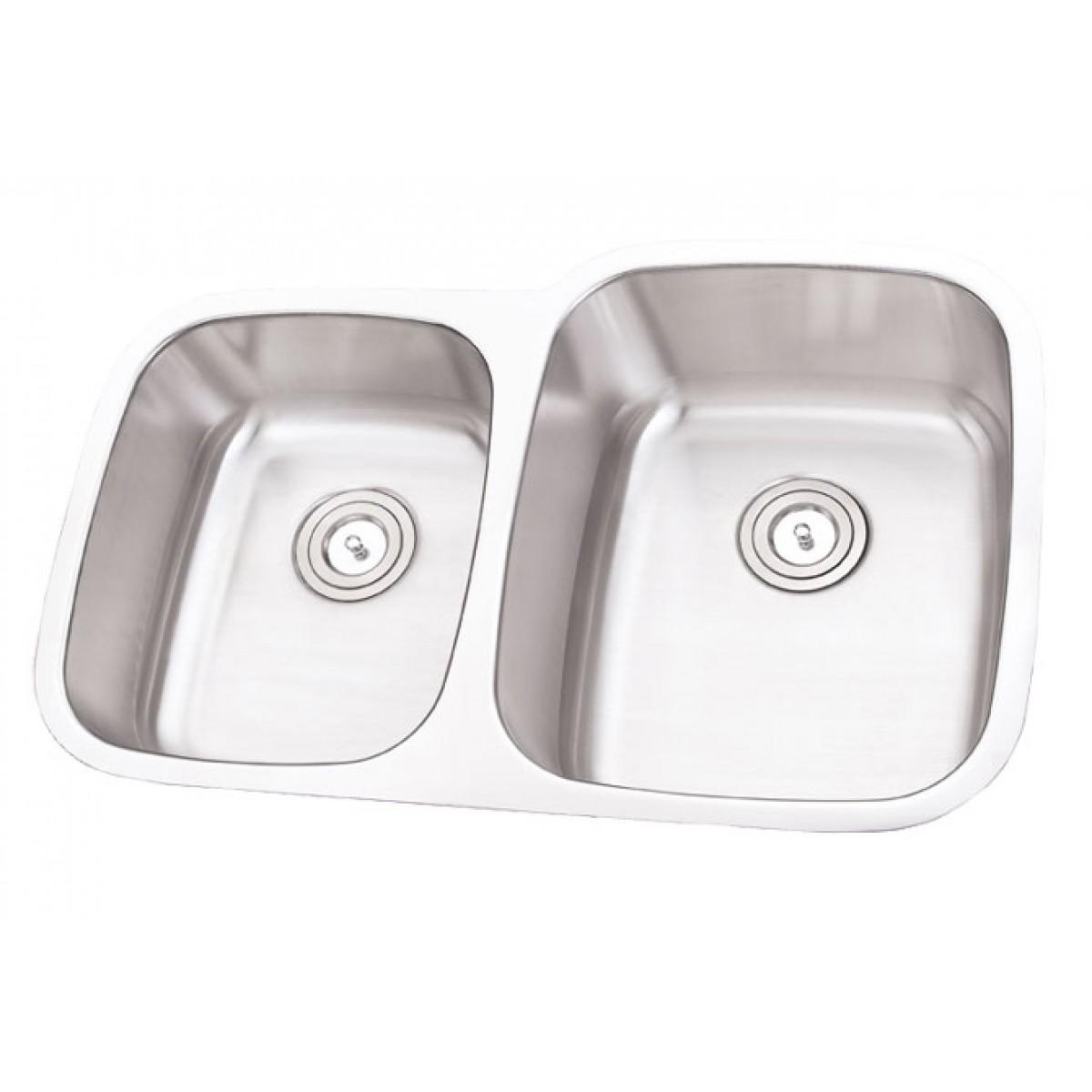 32 inch stainless steel undermount double bowl 40 60 - Stainless steel kitchen sink accessories ...