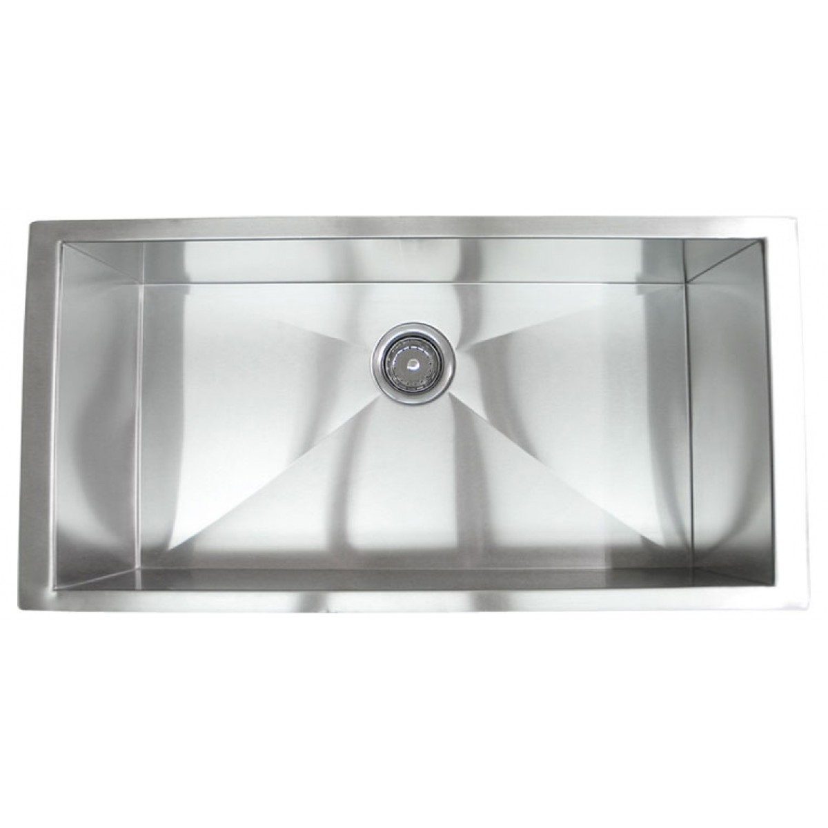 36 inch stainless steel undermount single bowl kitchen designer collection extra large stainless steel single