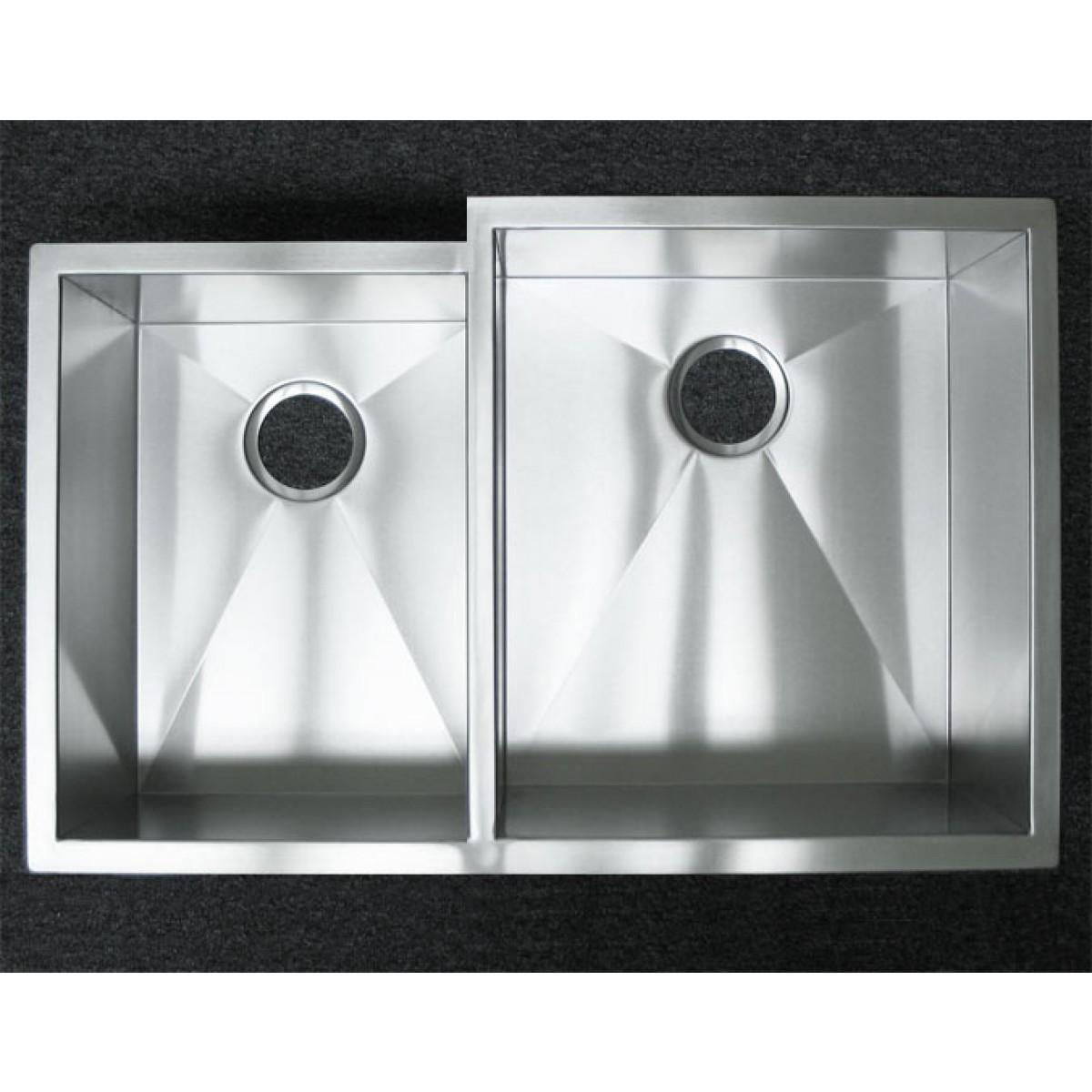 33 inch stainless steel undermount 40 60 offset double bowl kitchen sink zero radius design 33 inch stainless steel undermount 40 60 offset double bowl      rh   emoderndecor com