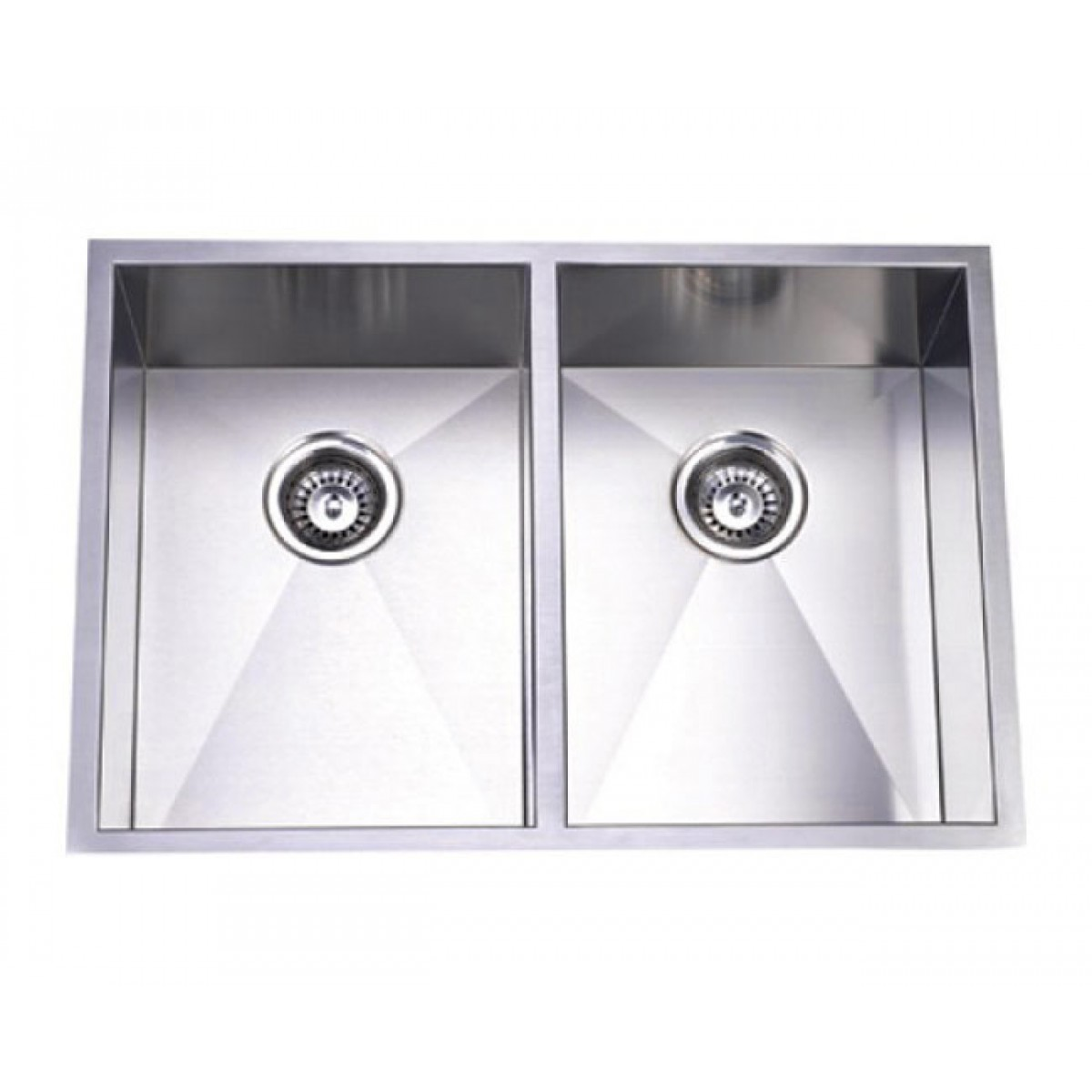 29 Inch Stainless Steel Undermount 50 Double Bowl Kitchen Sink Zero Radius Design