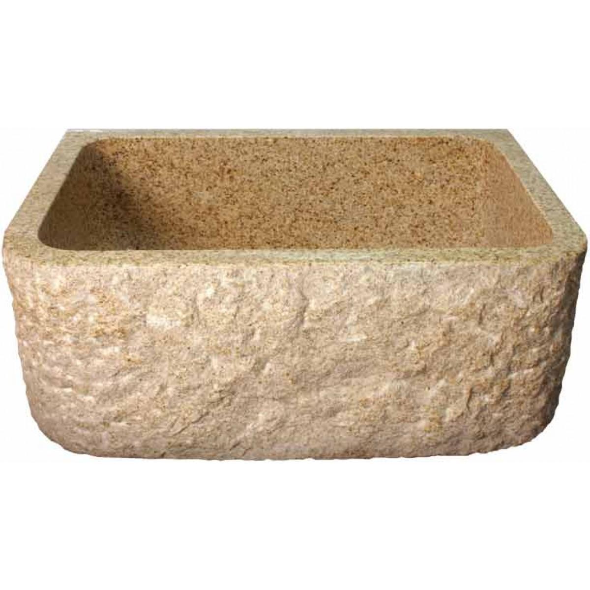 Sandstone Kitchen Sink : Rockwell Design Stone Granite Front Apron Farm Kitchen Sink - 26-1/2 x ...