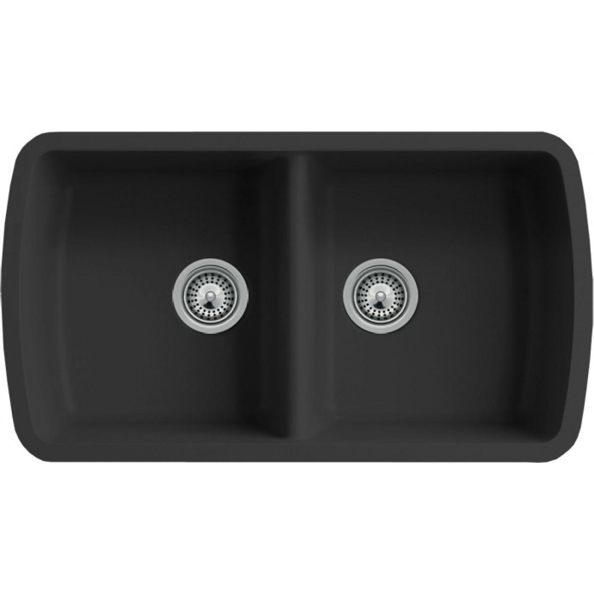 Undermount Granite Composite Kitchen Sinks Black Quartz Composite 50 50 Double Bowl Undermount Kitchen Sink