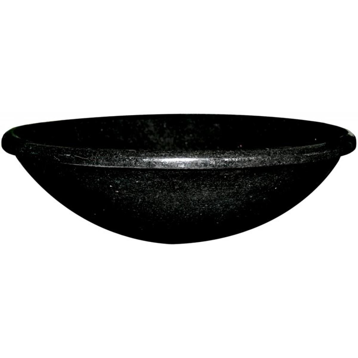 Black galaxy granite stone undermount drop in countertop bathroom lavatory vessel sink 17 for Black granite vessel bathroom sinks