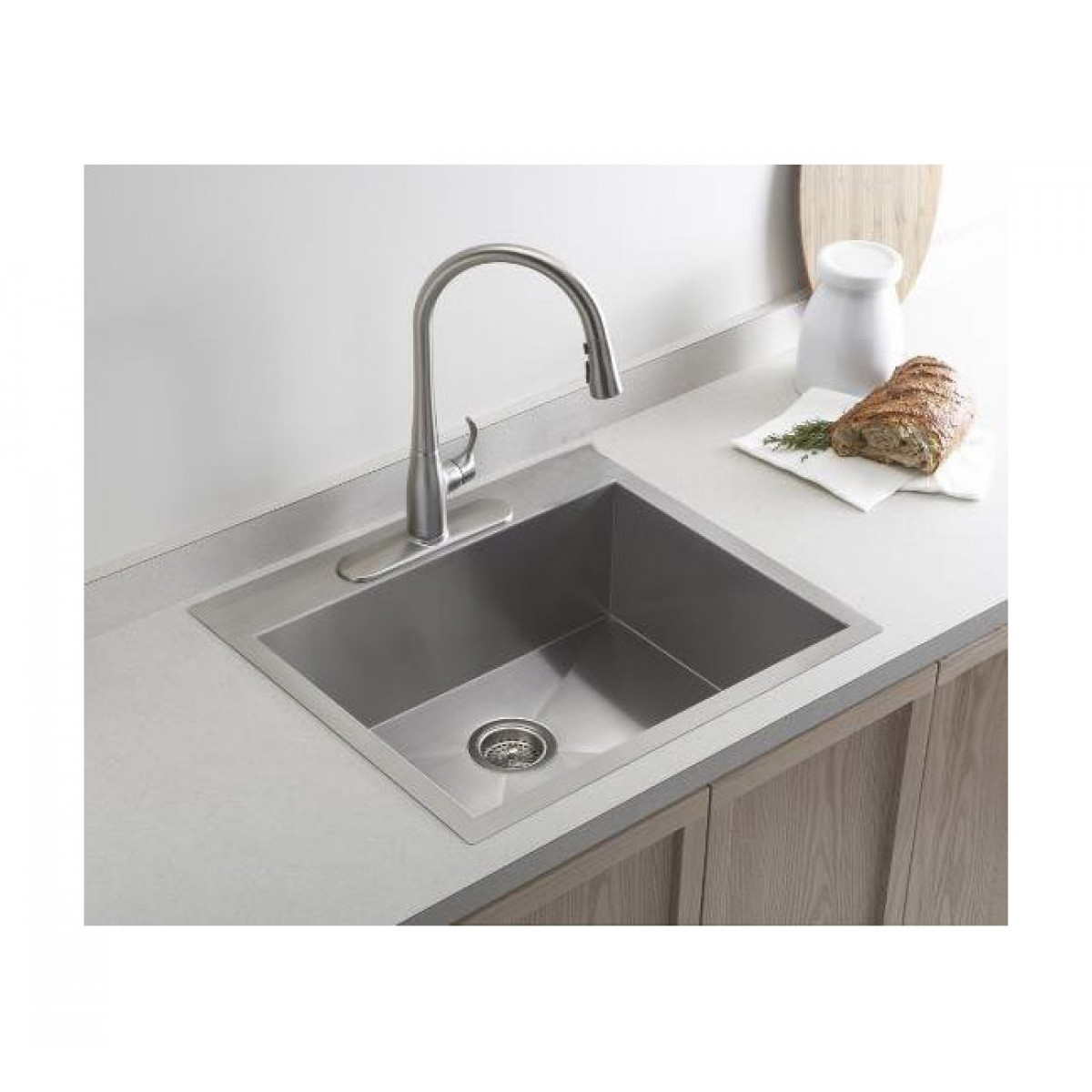 Best Kitchen Sink: 19 Inch Top-Mount / Drop-In Stainless Steel Single Bowl