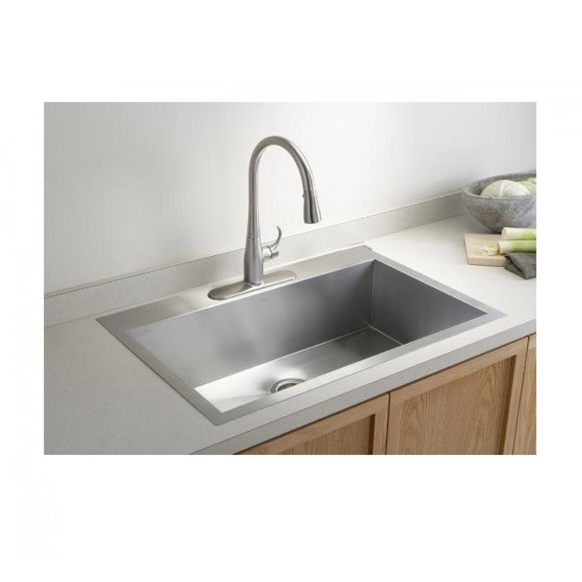 Best Kitchen Sink: 36 Inch Top-Mount / Drop-In Stainless Steel Single Super