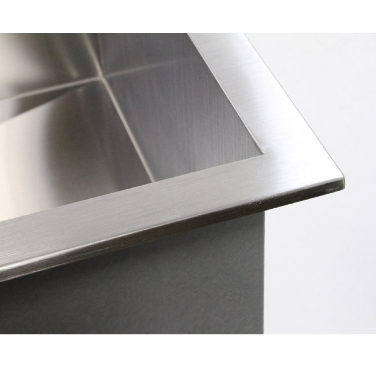Top Mount Kitchen Sinks : 19 Inch Top-Mount / Drop-In Stainless Steel Single Bowl Kitchen Island ...