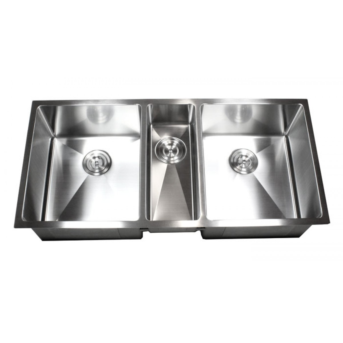 42 inch stainless steel undermount triple bowl kitchen sink 15mm