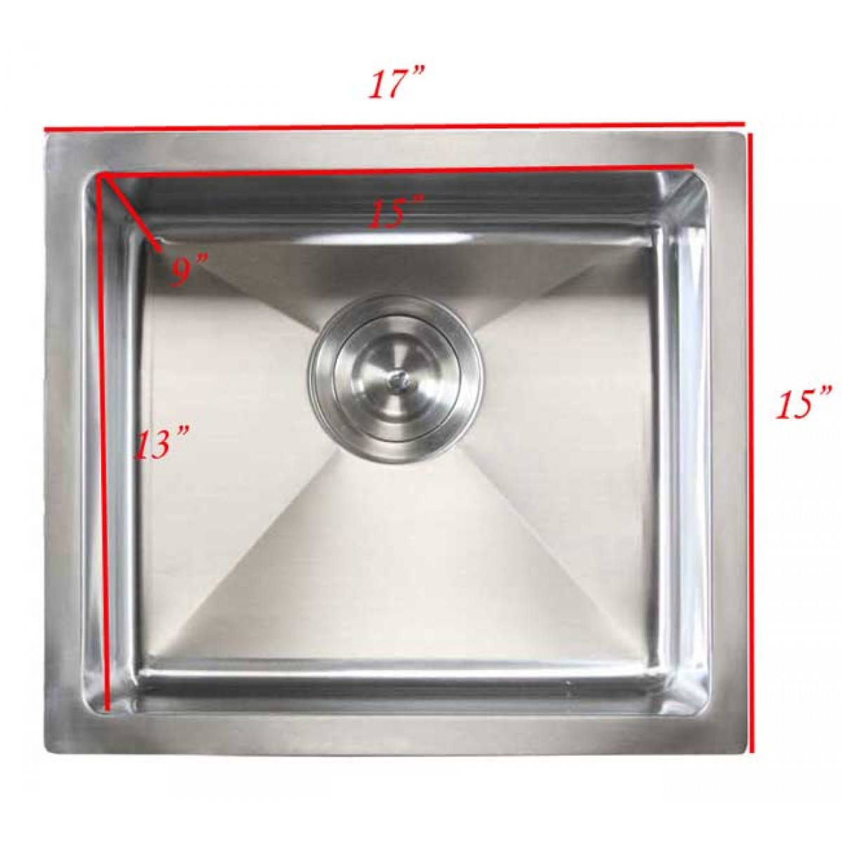 Ariel 17 Inch Stainless Steel Undermount Single Bowl