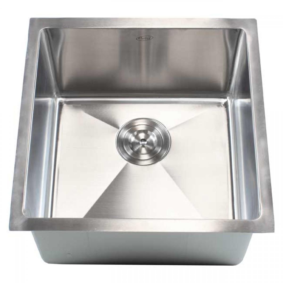 18 Inch Stainless Steel Undermount Single Bowl Kitchen Bar Prep Sink 15mm Radius Design 16 Gauge