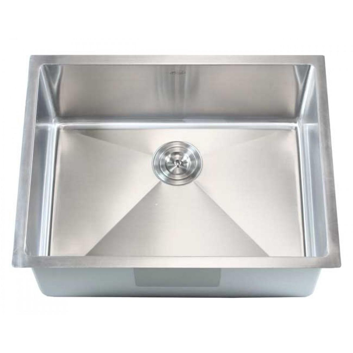 Ariel 26 Inch Stainless Steel Undermount Single Bowl Kitchen Sink ...