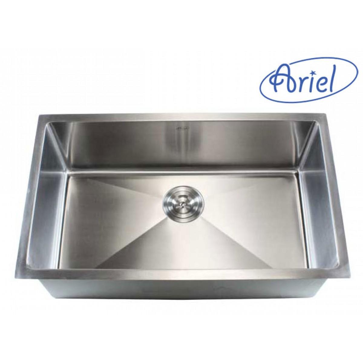 Good 30 Inch Stainless Steel Undermount Single Bowl Kitchen Sink 15mm Radius  Design   16 Gauge