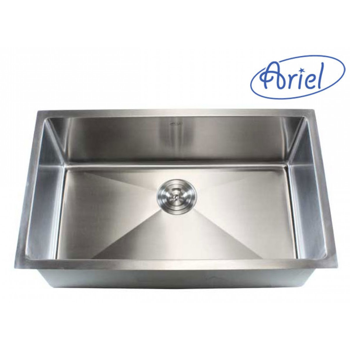 ariel 37 inch stainless steel undermount 50/50 double bowl kitchen