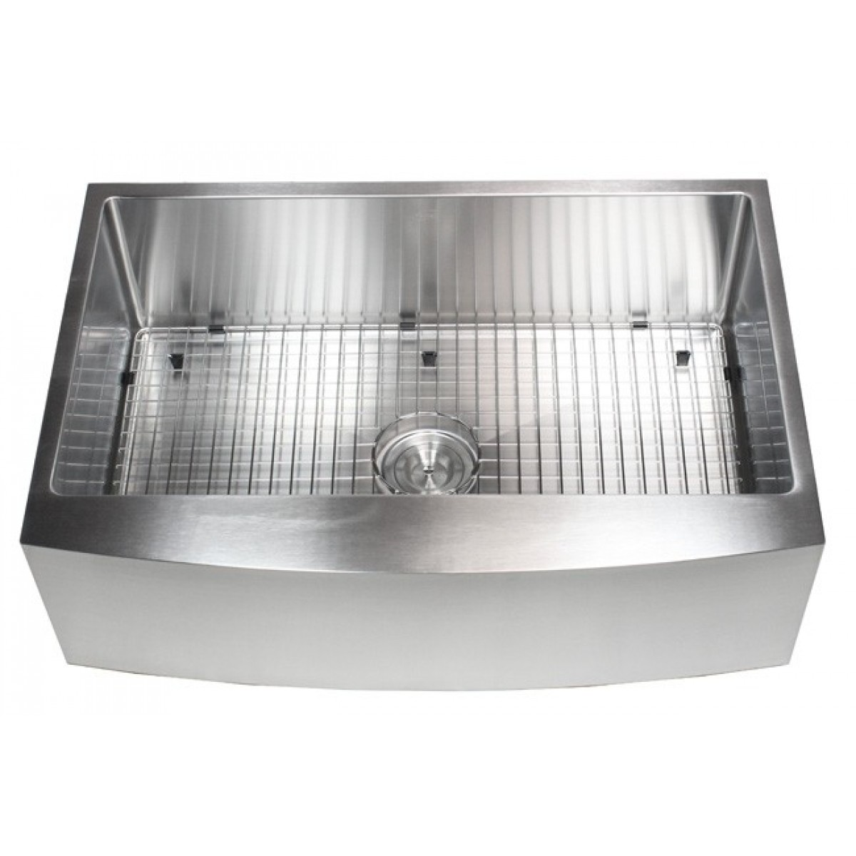 7 Inch Apron Front Sink : Inch Stainless Steel Curved Front Farm Apron Single Bowl Kitchen Sink ...