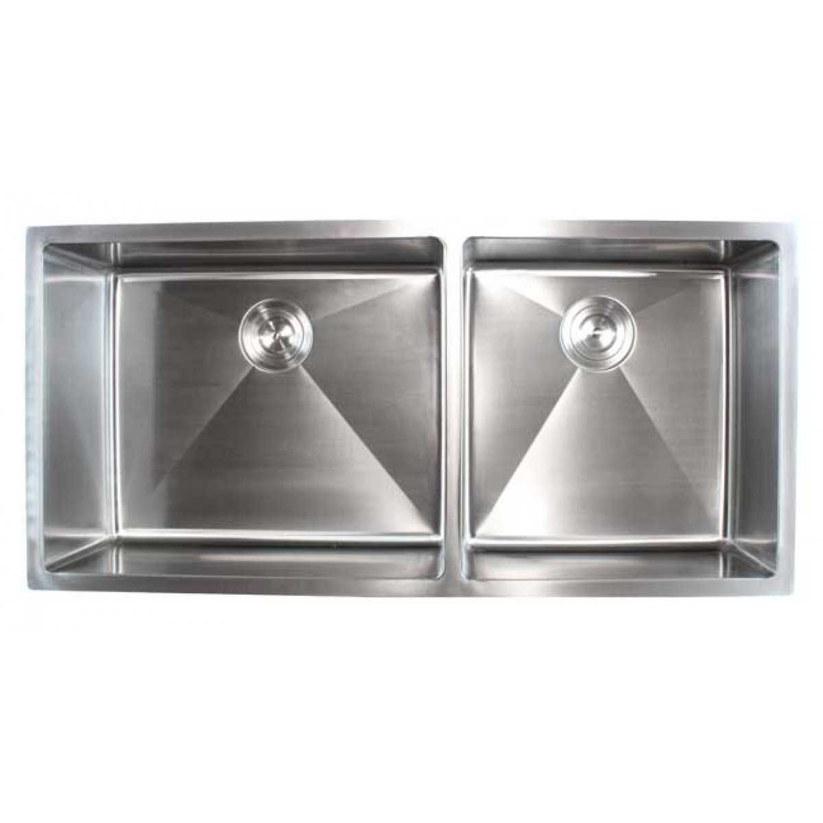 Contemporary Kitchen Designed With Undermount Sink And Led: Ariel 42 Inch Stainless Steel Undermount Double Bowl