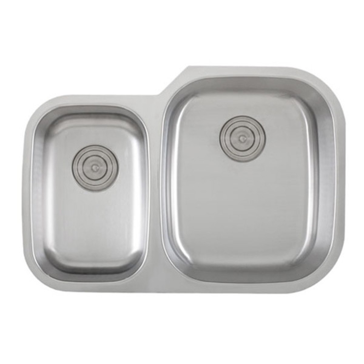 30 inch stainless steel undermount 40 60 double bowl kitchen sink   18 gauge 30 inch 18 gauge stainless steel undermount 40 60 double bowl      rh   emoderndecor com