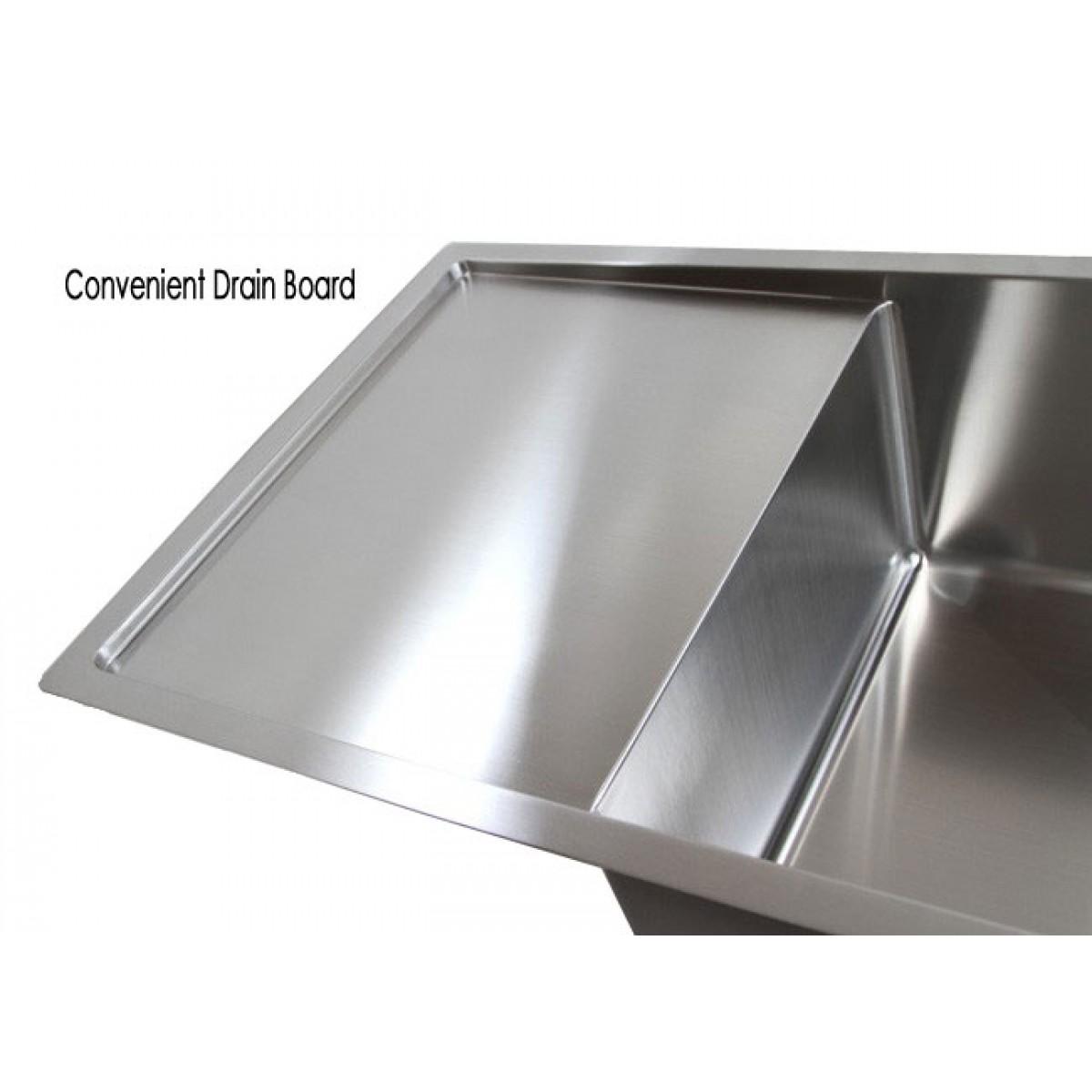 Undermount Kitchen Sinks With Drainboard 42 inch stainless steel undermount double bowl kitchen sink 15mm