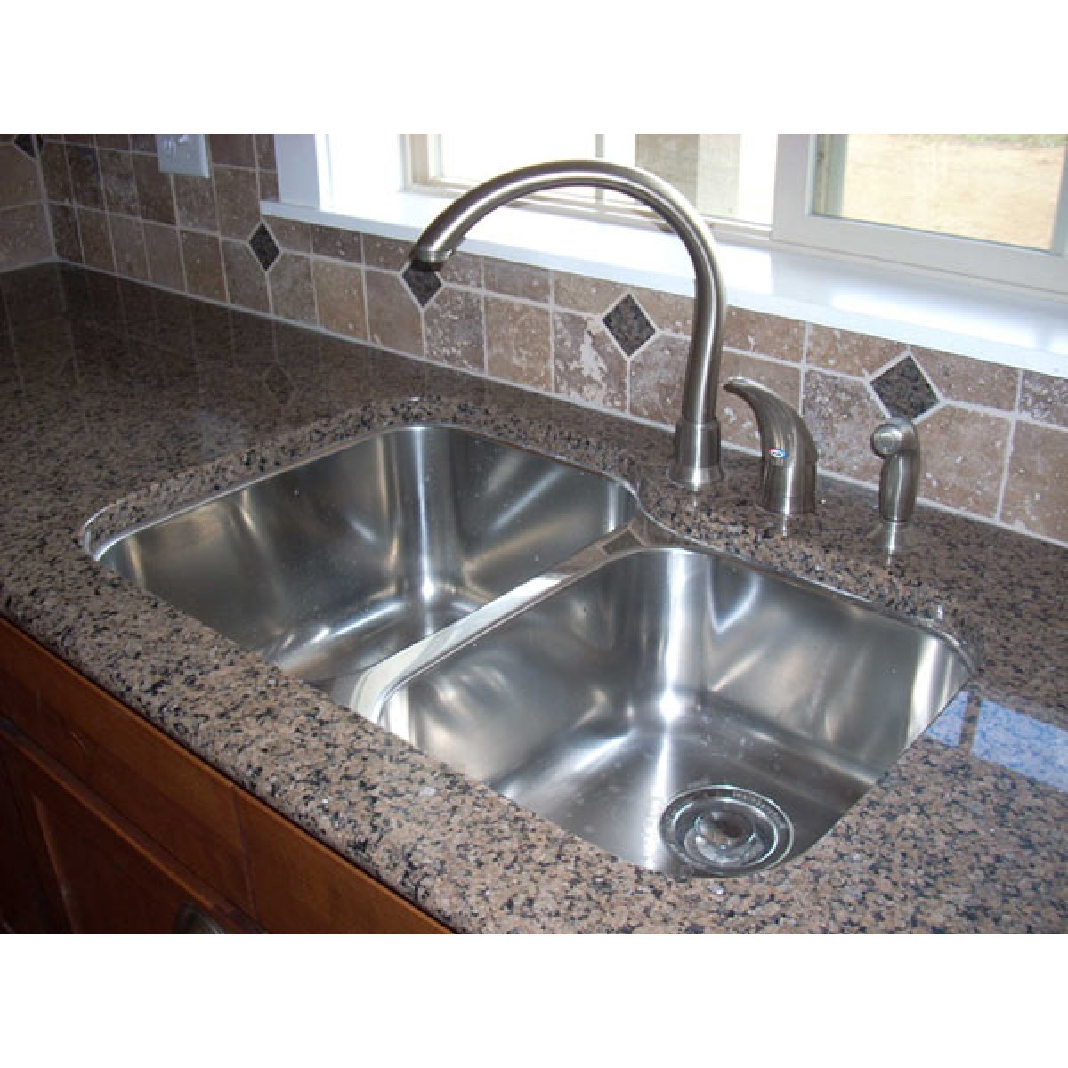 31 inch stainless steel undermount 60 40 double bowl - 18 inch kitchen sink ...