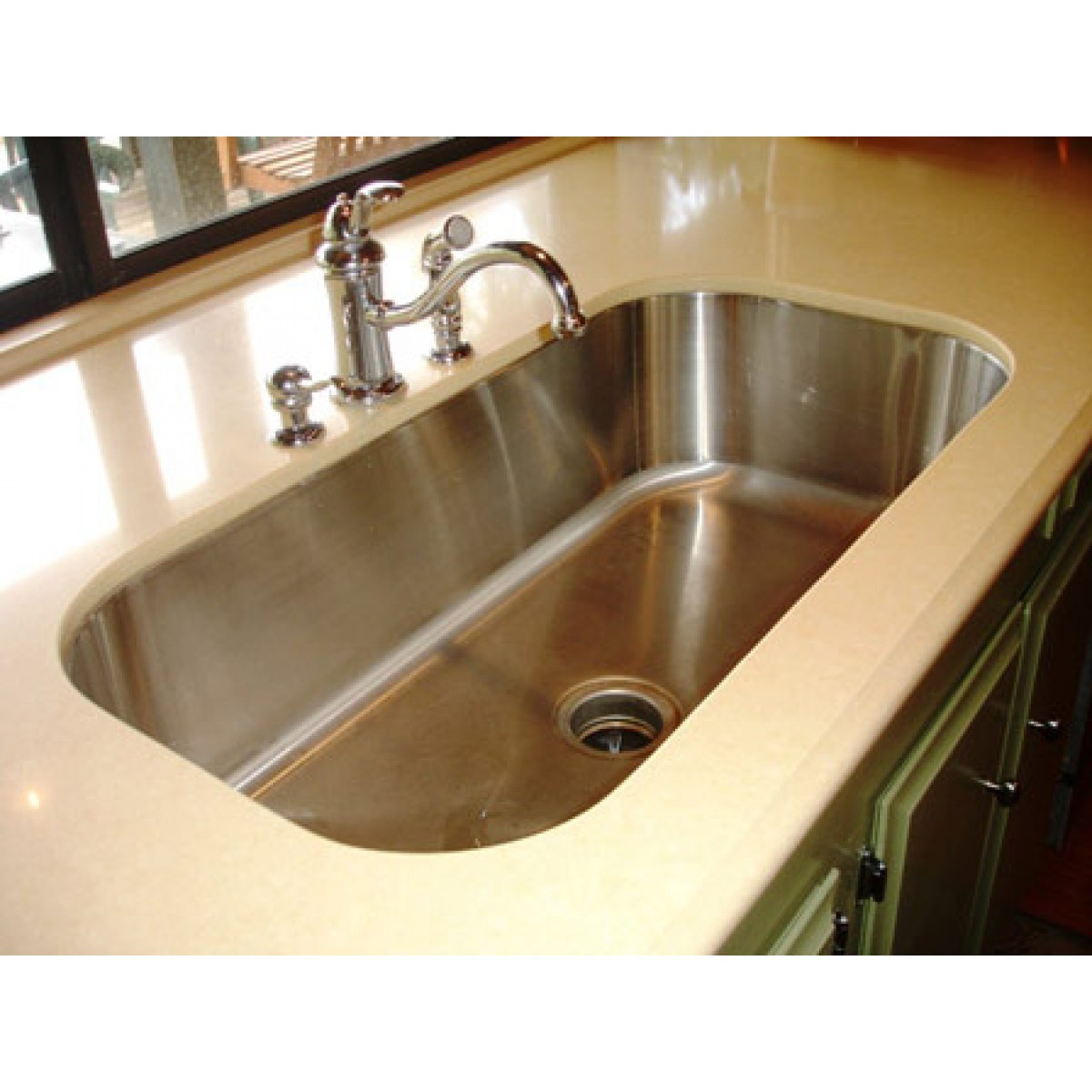 Kitchen Island 18 Deep 30 inch stainless steel undermount single bowl kitchen sink - 18 gauge