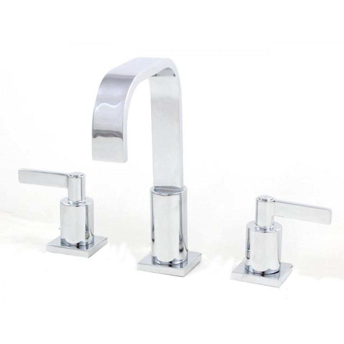 3 Hole Bathroom Faucet widespread lead free 3 hole bathroom faucet polished chrome finish