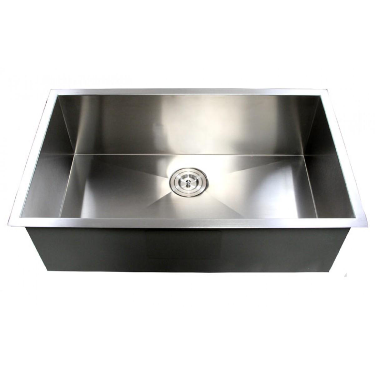 ... Stainless Steel Undermount Single Bowl Kitchen Sink Zero Radius Design