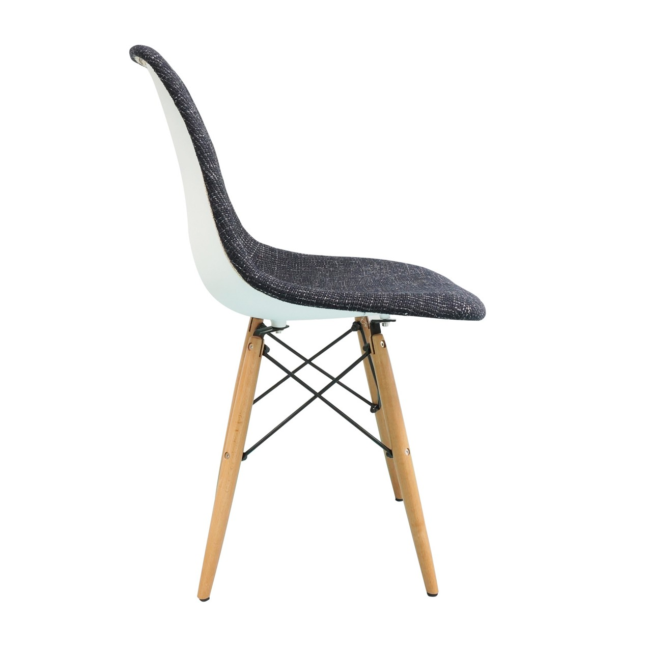 Display Gallery Item 1  Display Gallery Item 2  Black Fabric Upholstered Eames Style DSW Shell Chair with Wood  . Eames Daw Chair Price. Home Design Ideas