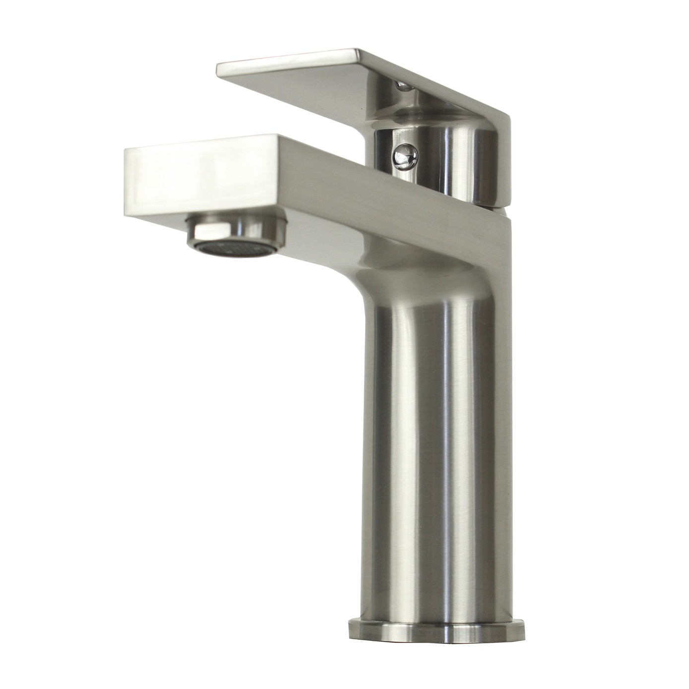 Single Hole Vessel Sink Faucet : ... > Anna Brushed Nickel Handle Bathroom Vessel Sink Single Hole Faucet