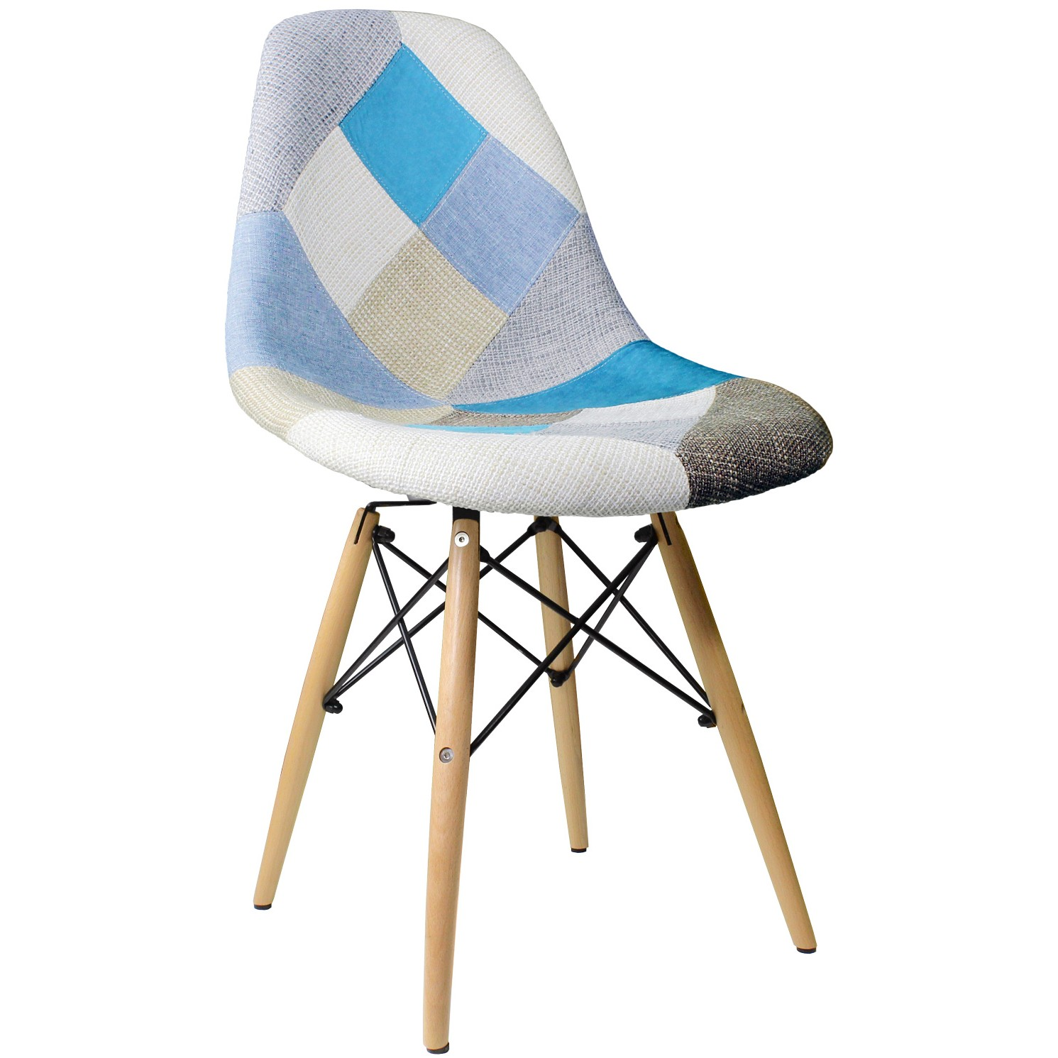 Patchwork Fabric Upholstered Mid Century Eames Style  : dsw fab patchwork3 from www.emoderndecor.com size 1491 x 1491 jpeg 232kB