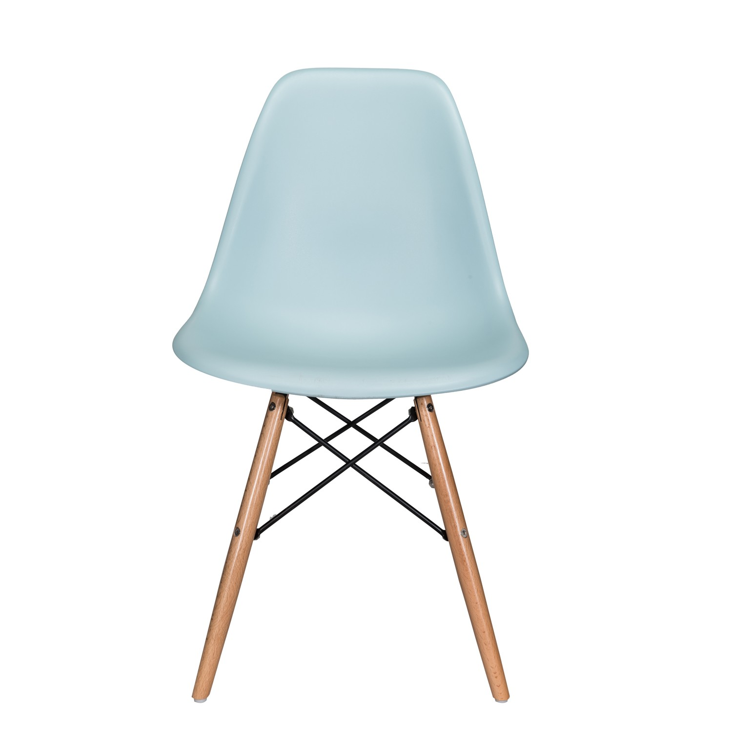 nature series ice blue eames style dsw molded plastic dining side chair natural beech wood. Black Bedroom Furniture Sets. Home Design Ideas