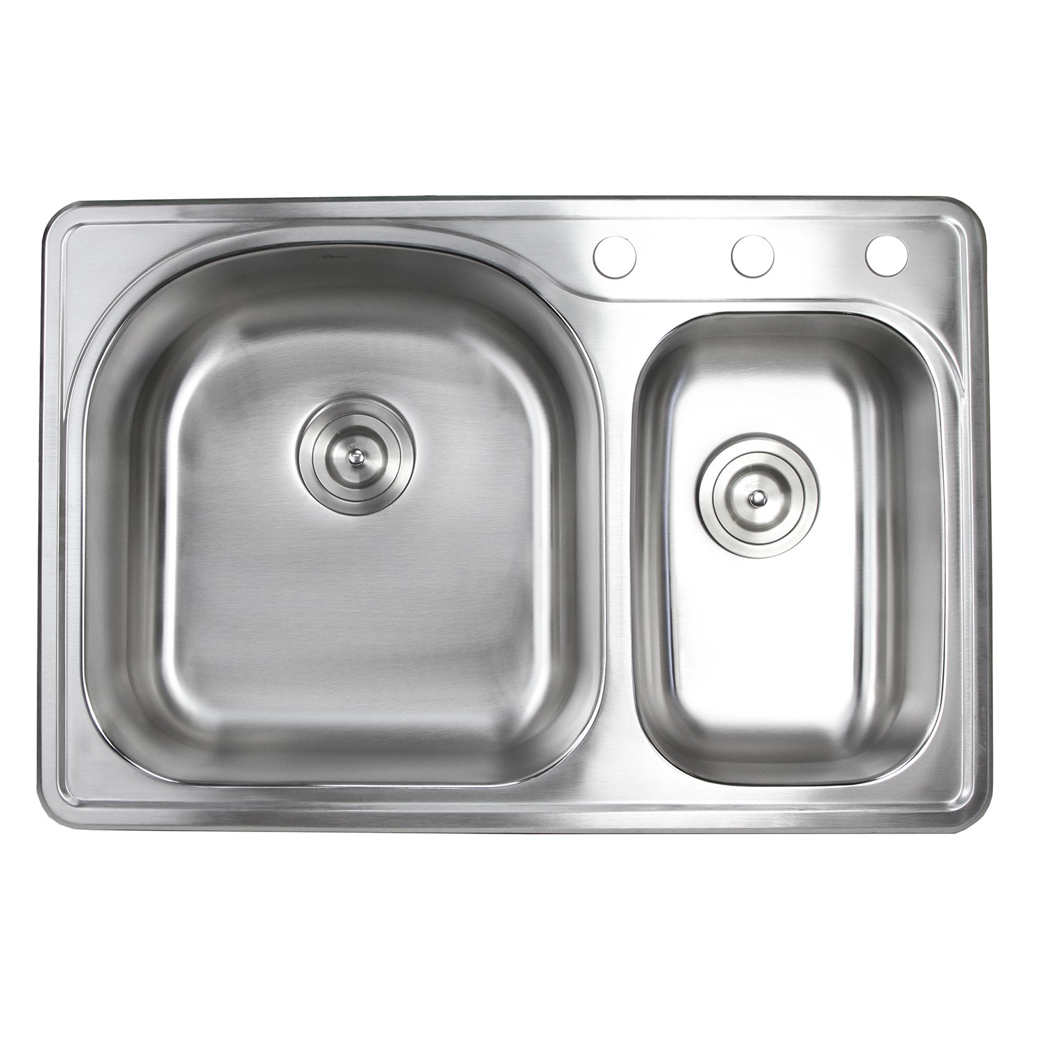 Inch Top mount Drop in Stainless Steel 70 30 Double Bowl Kitchen