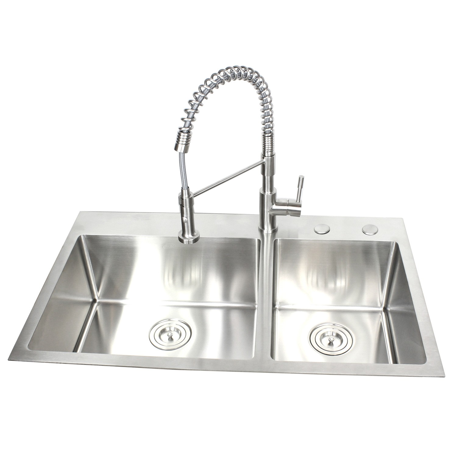 36 Inch Top Mount Drop In Stainless Steel 60 40 Double