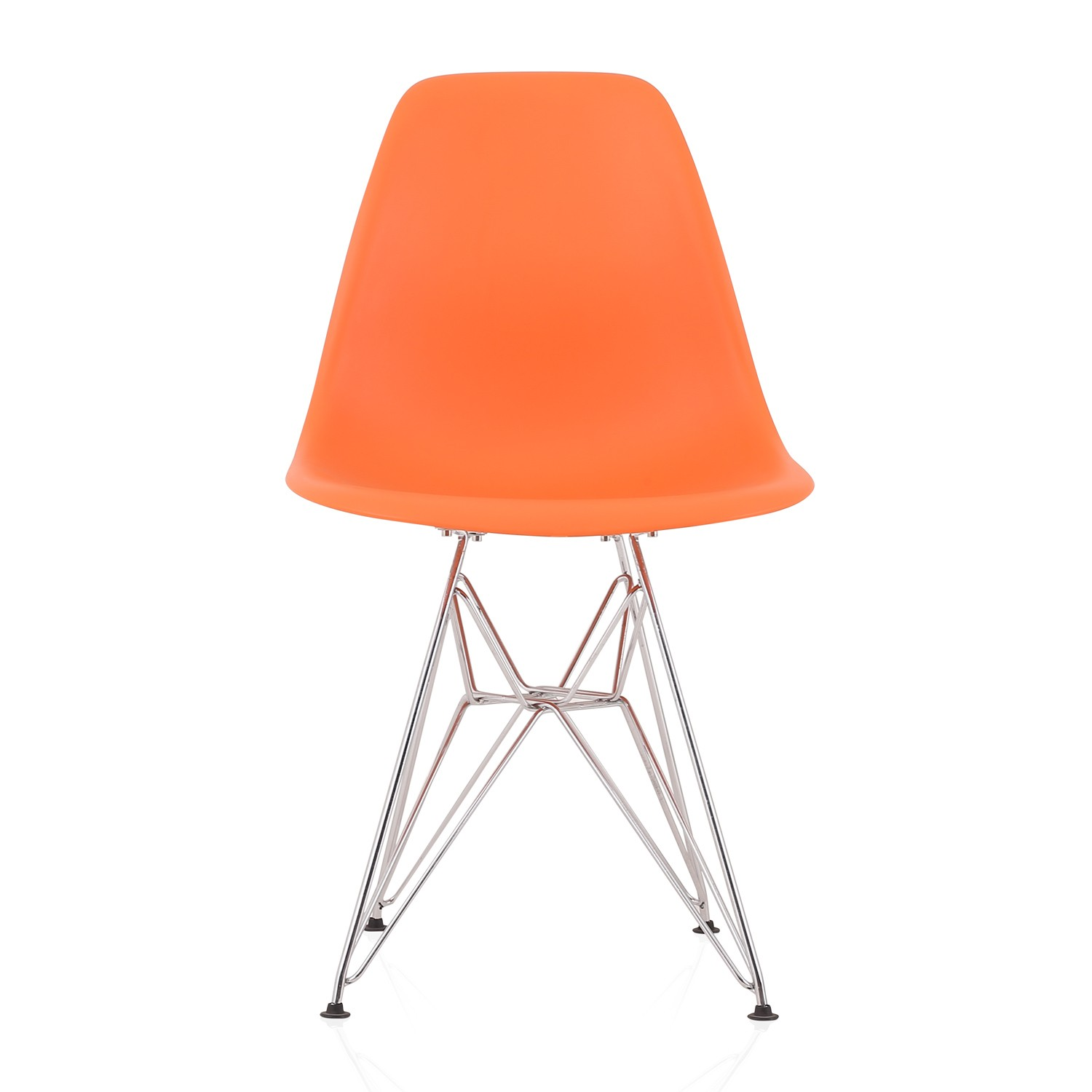 Eames Style DSR Molded Orange Plastic Dining Shell Chair  : dsr dining chair orangep2 from www.emoderndecor.com size 1500 x 1500 jpeg 103kB