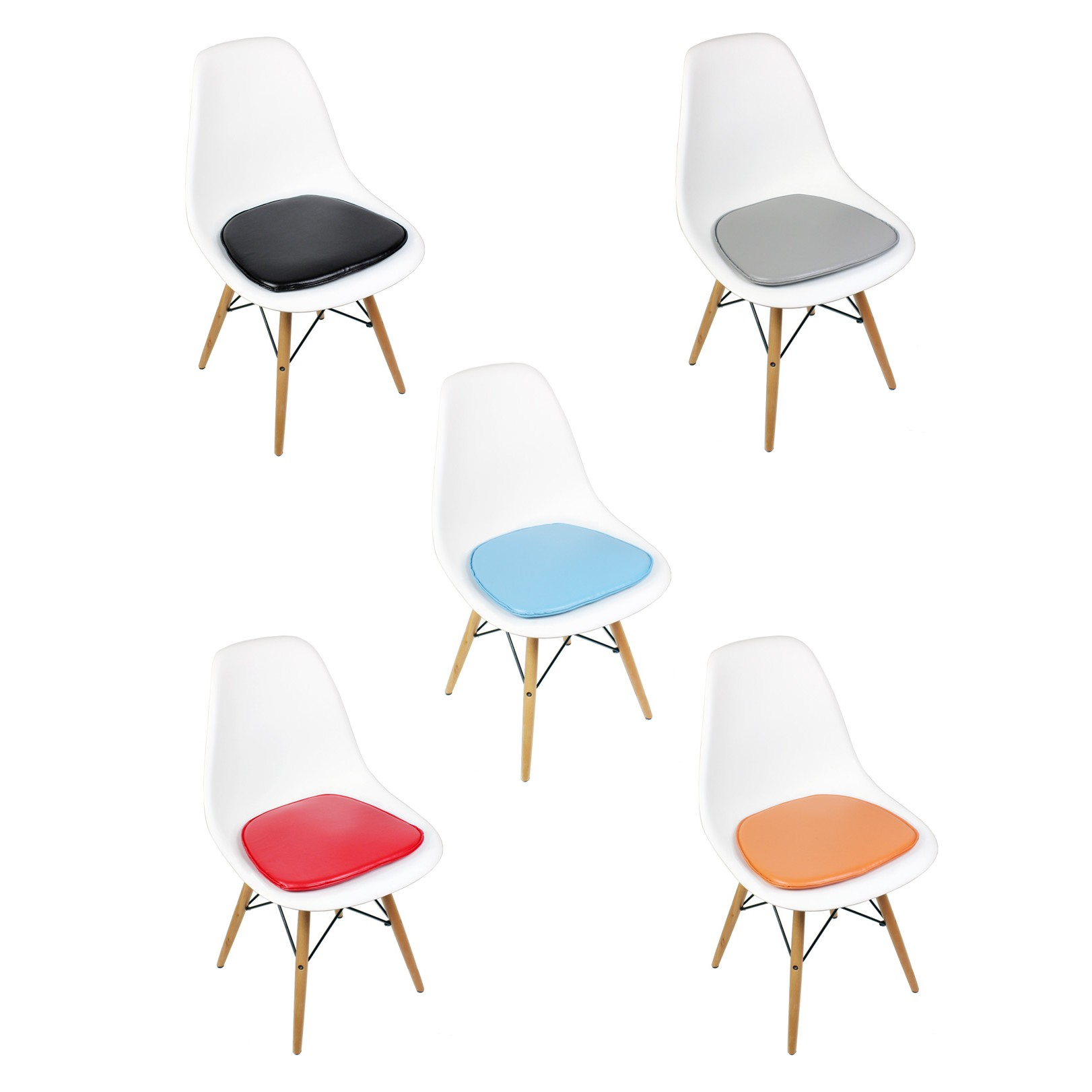 Eames eiffel chair pads chairs seating for Eames coussin