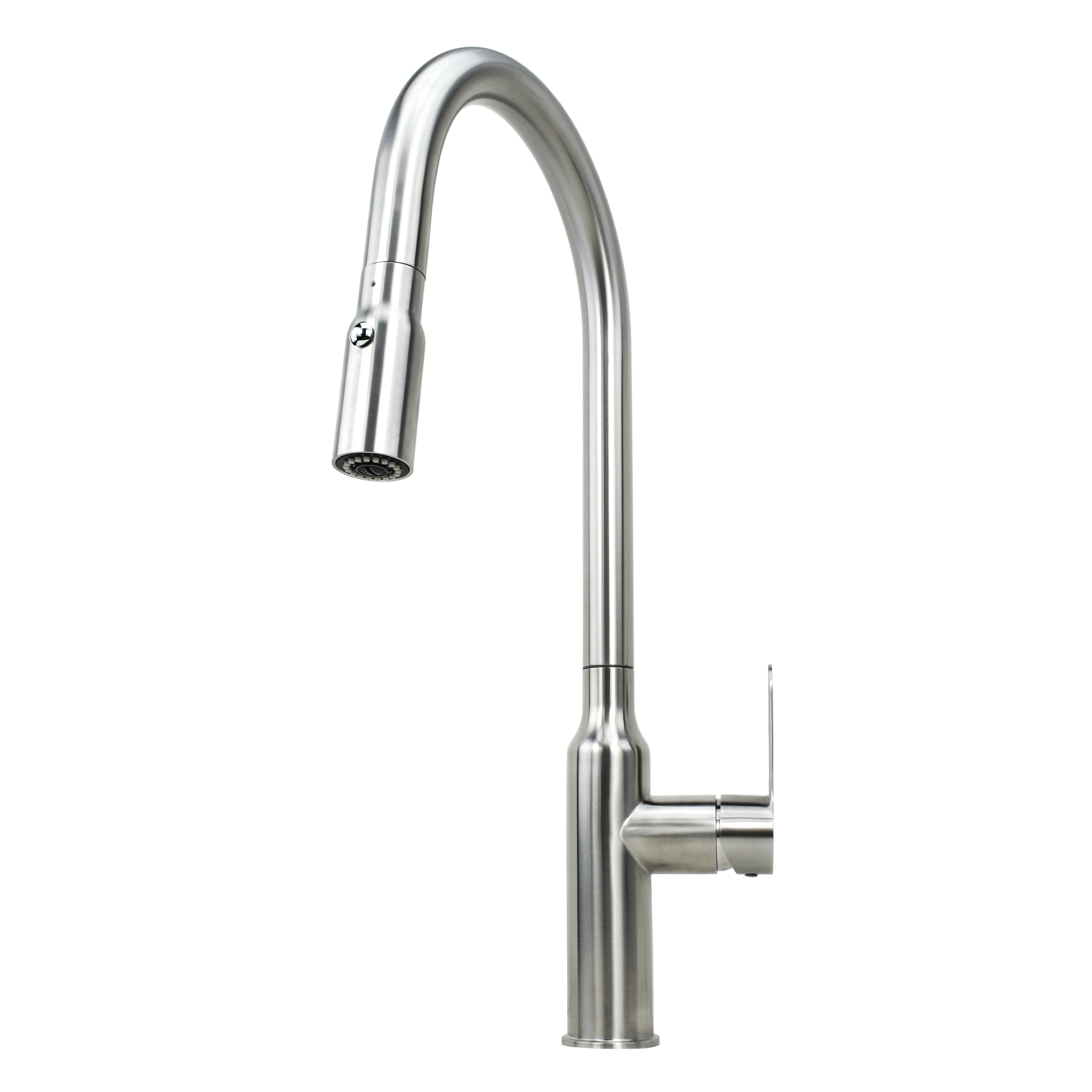 Chess Design Lead Free Brushed Nickel Kitchen Faucet with Pull Out
