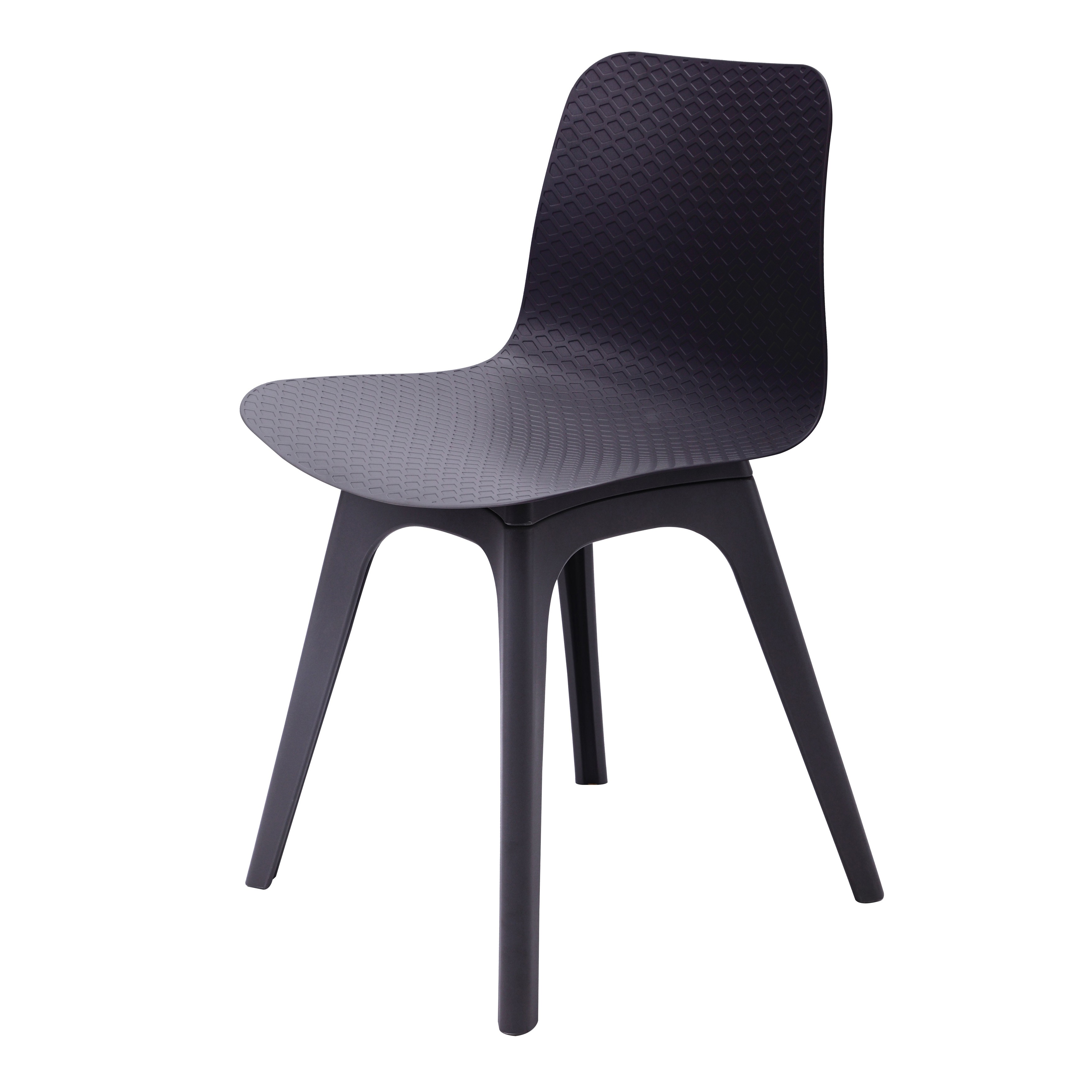 hebe series black dining shell side chair molded plastic black legs. Black Bedroom Furniture Sets. Home Design Ideas