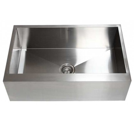 30 inch stainless steel single bowl flat front farm apron kitchen sink 30 inch stainless steel single bowl curved front farm apron      rh   emoderndecor com