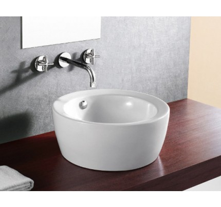 round porcelain ceramic countertop bathroom vessel sink 18 x 734 inch