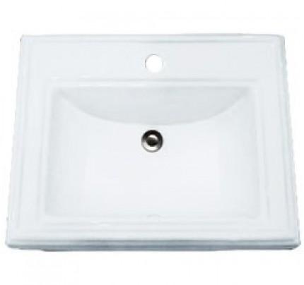 Porcelain Ceramic Vanity Drop In Bathroom Vessel Sink 23 X 18 3 16