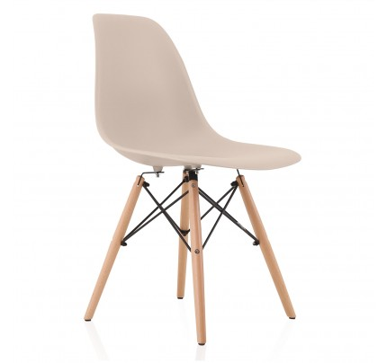 Molded Plastic Dining Chairs nature series wood grain dsw molded plastic dining side chair with
