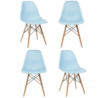 Molded Plastic Dining Chairs set of 4 eames style dsw molded black plastic dining shell chair