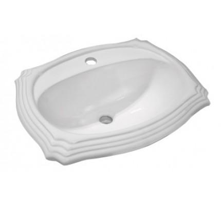 porcelain ceramic vanity drop in bathroom vessel sink - 23 x 18-3