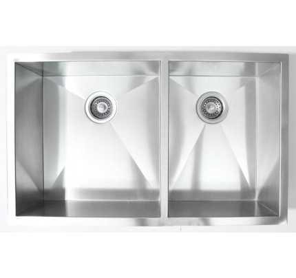 stainless steel radius kitchen sink undermount lowes 18 gauge double bowl