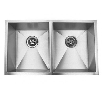 37 inch stainless steel undermount double bowl kitchen sink zero radius design