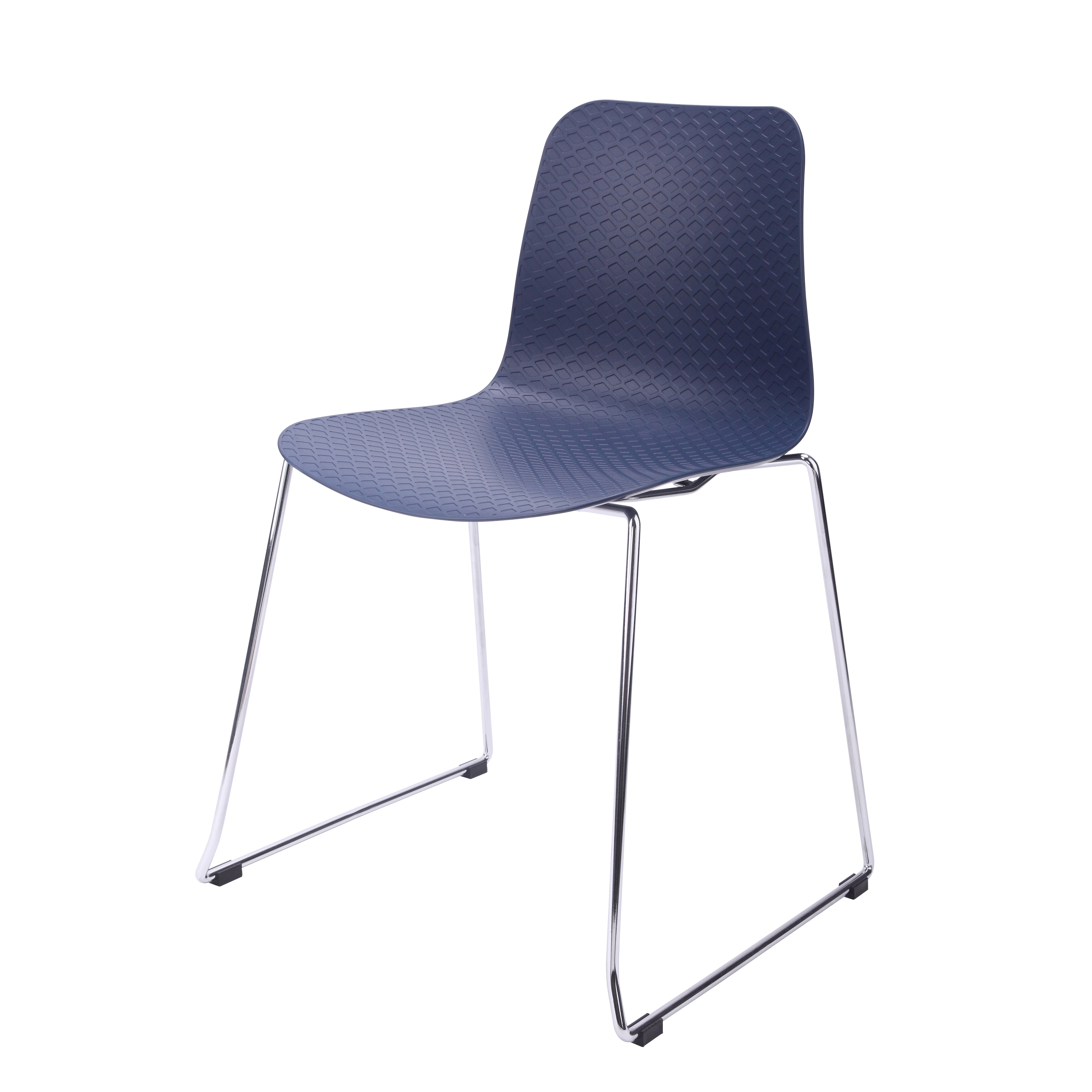 hebe series navy dining shell side chair molded plastic