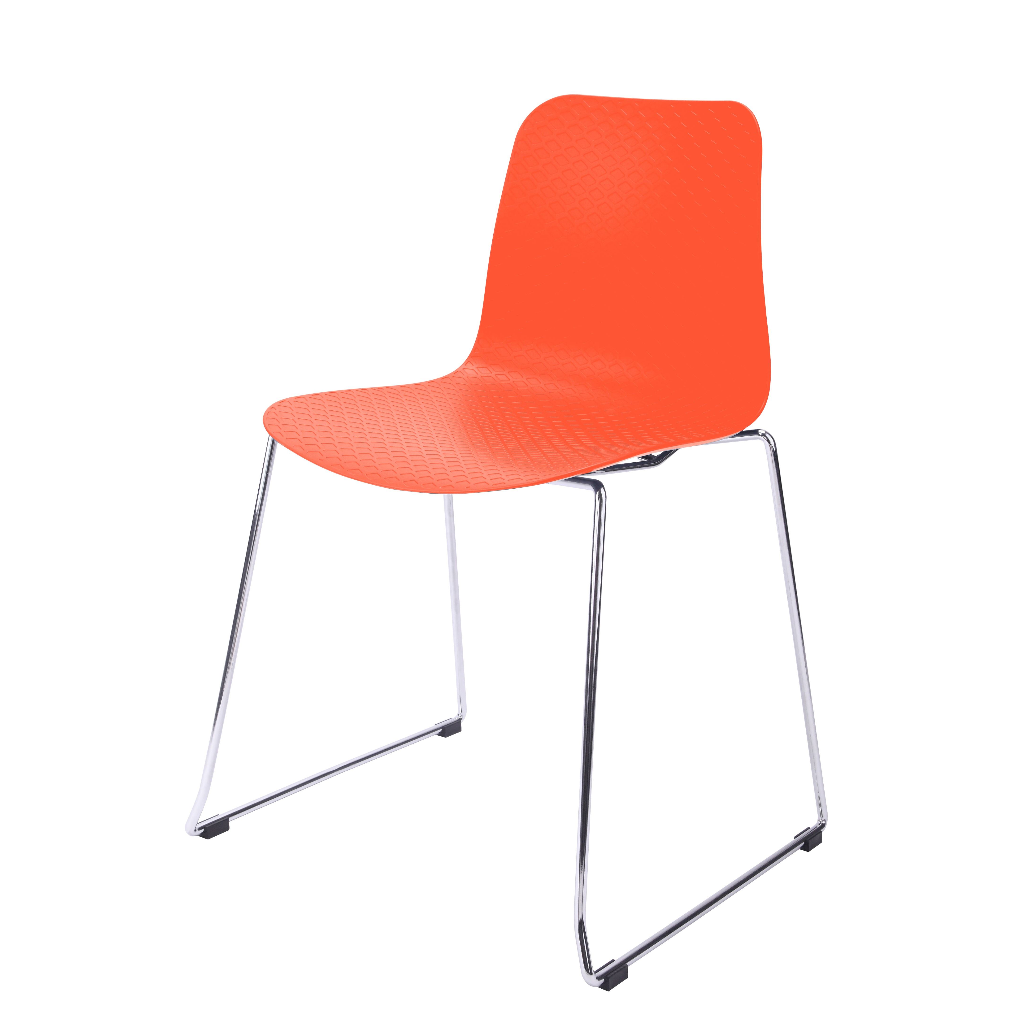 hebe series orange dining shell side chair molded plastic