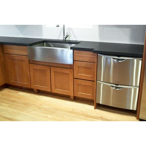30 inch stainless steel single bowl flat front farm apron kitchen sink 5 display gallery item 6 - Apron Kitchen Sinks
