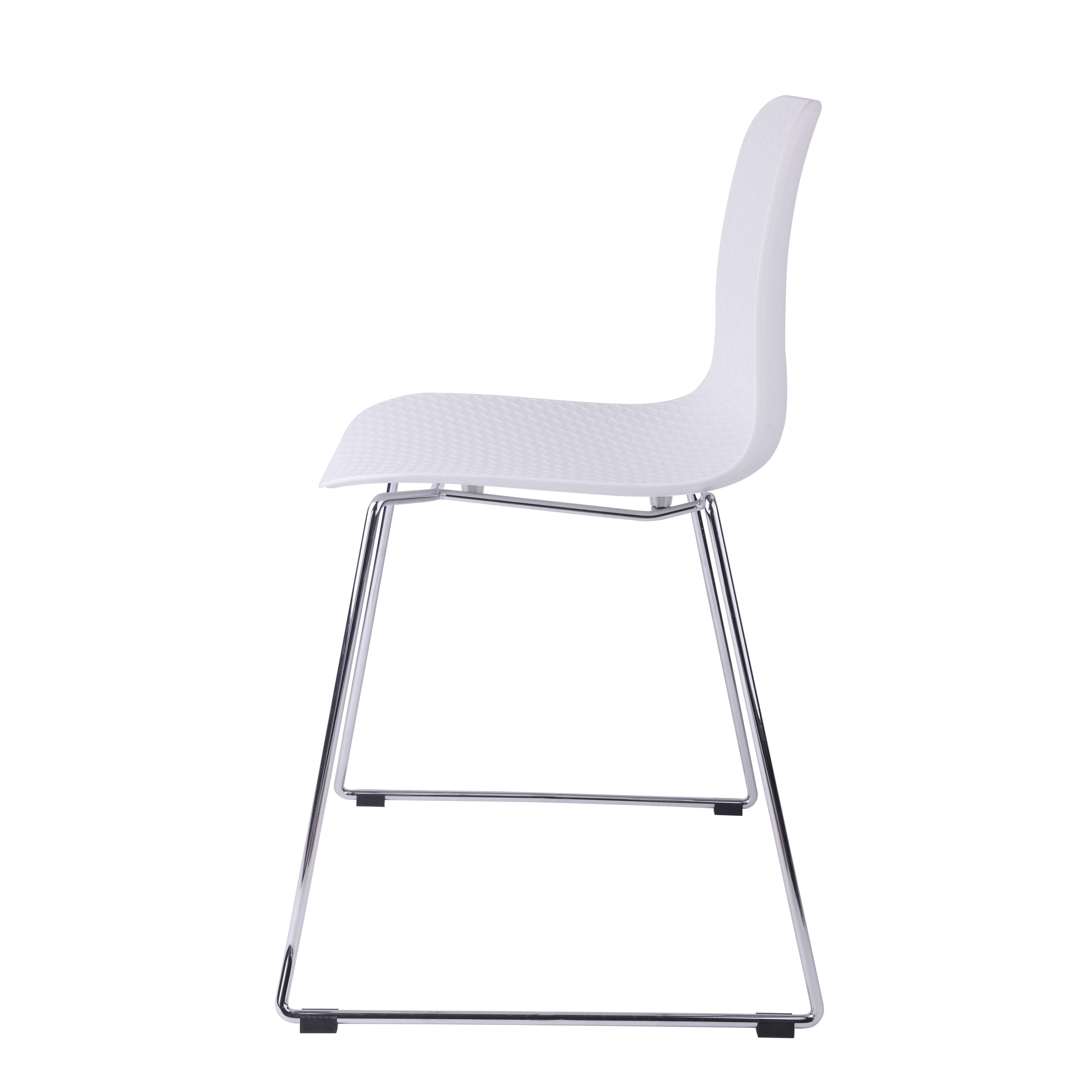 hebe series white dining shell side chair molded plastic