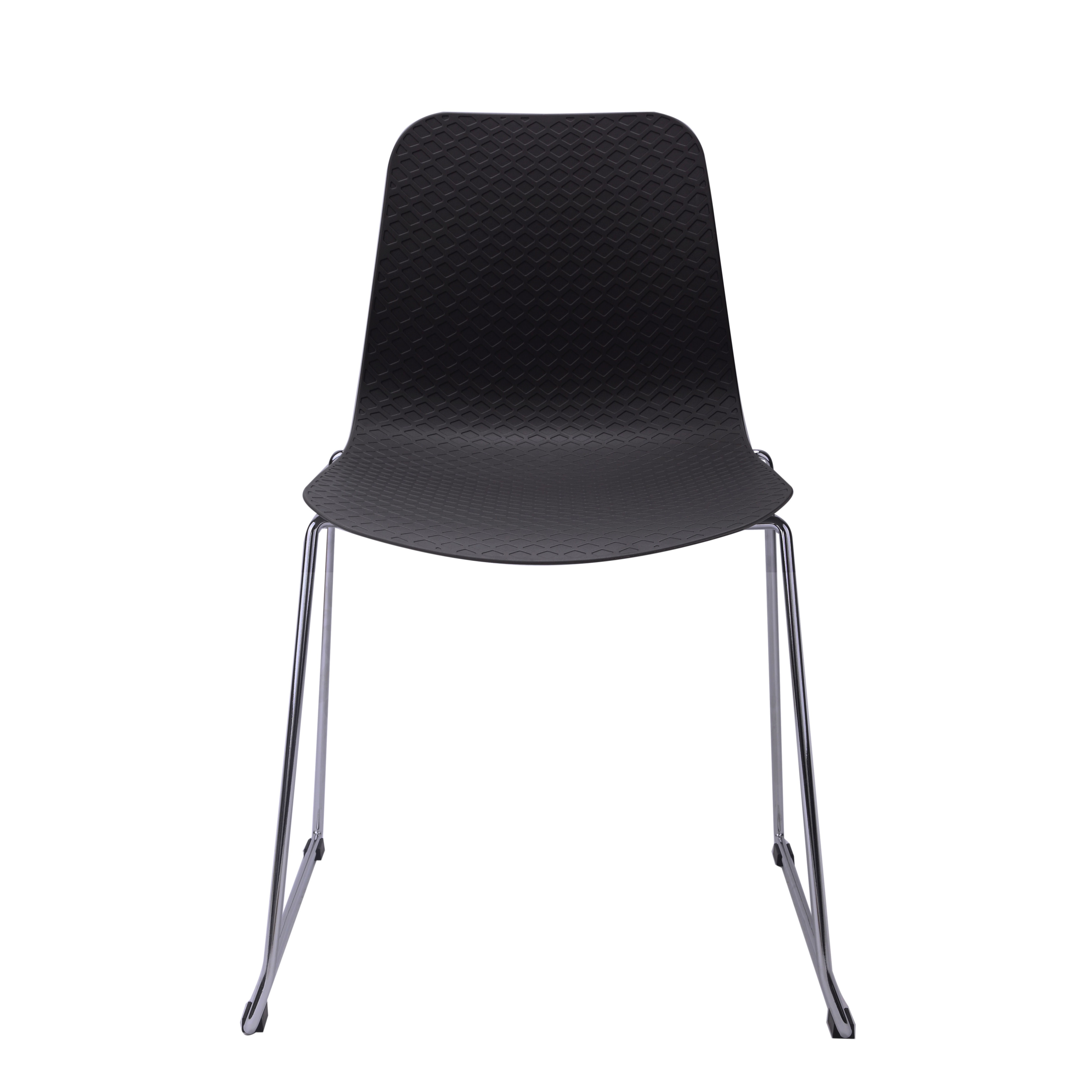hebe series black dining shell side chair molded plastic